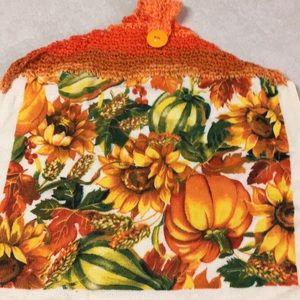 Crocheted Pumpkin Hand Towel! Handmade💕